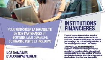 Propulse etr les institutions financieres