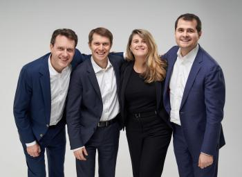 From left to right – Konstantin Magaletskyi, Partner, Denis Tafintsev, Senior Partner, Lenna Koszarny, Founding Partner and Chief Executive Officer, Vasile Tofan, Partner.