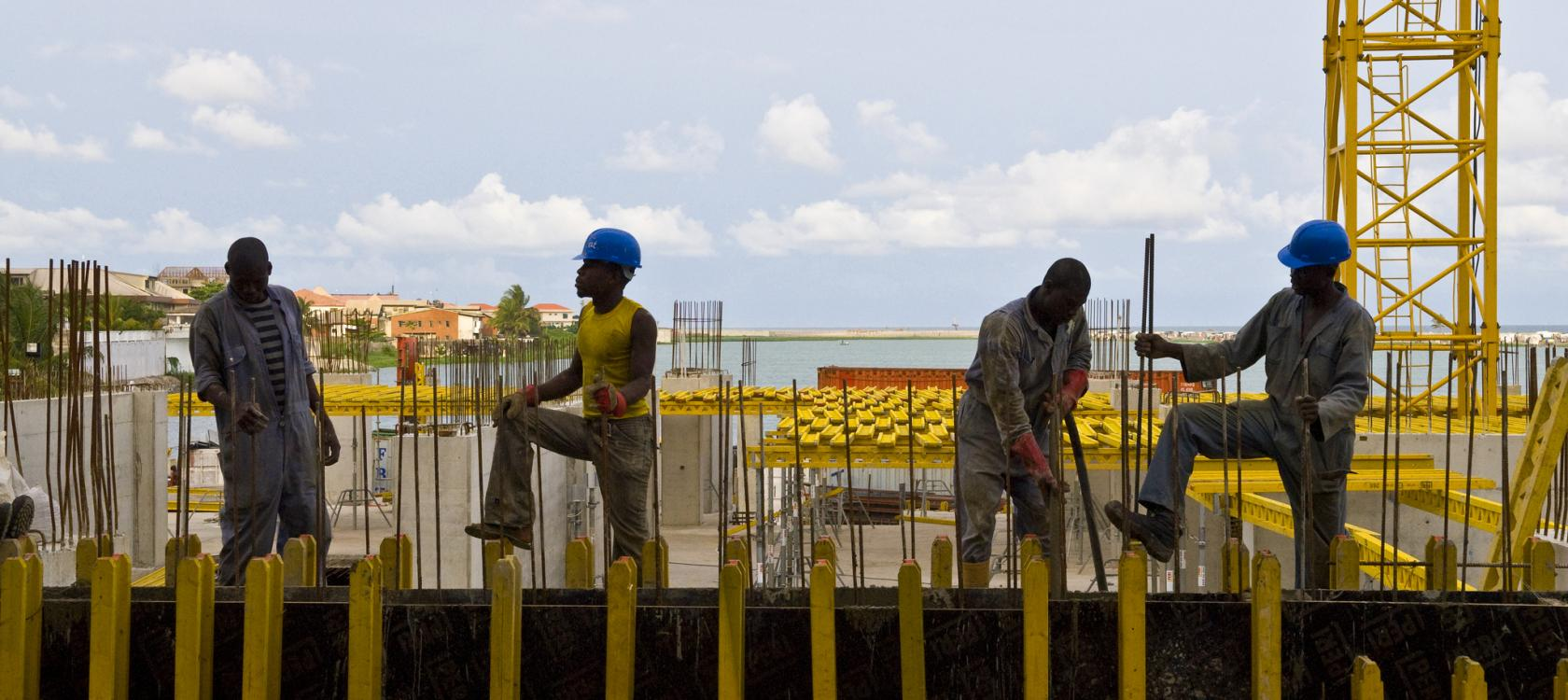 Photo Nigeria hommes sur chantier