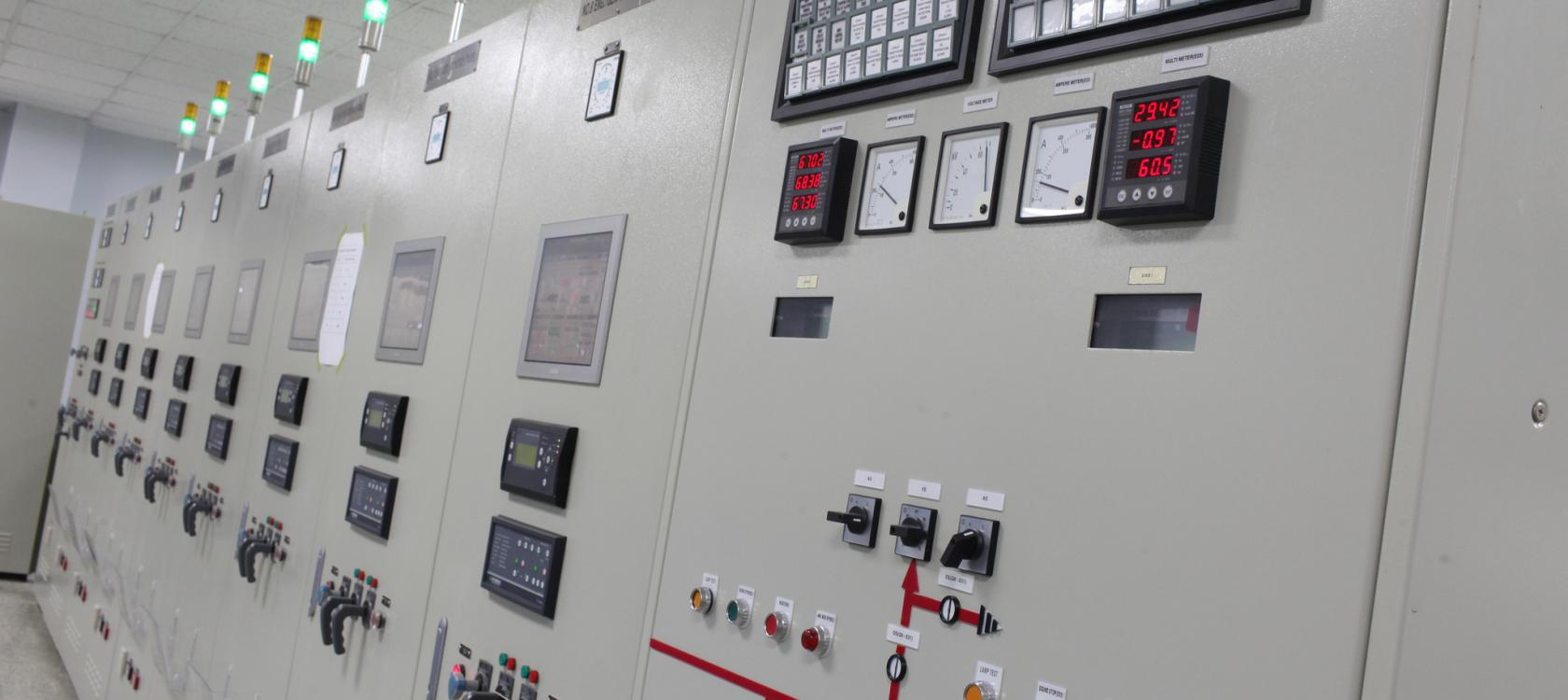 Inside the control room at E-Power plant
